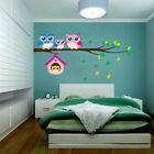 Owl Birds Branch Mural Wall Stickers Decal Removable Kids Baby Room Decor Health
