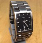 ALFEX Swiss Men Heavy Steel Rectangle Analog Quartz Watch Hours~Date~New Battery