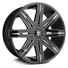 DUB Stacks Wheels 24x95 Gloss Black with Accents +25 5x1397