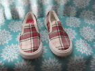 ROXY  Slip on Red Green Crme Black Plaid US size 6 EUR 36