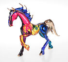 Horse Multi Color Beauty Hand Blown Blowing Glass Art Animal Fancy Collectible