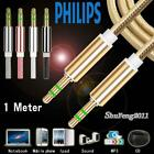 1M 35mm Jack Aux Cable Audio Lead MP3 PC Car Phone For Philips Xenium V8526
