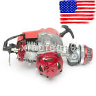 49CC 2 Stroke High Performance Engine Motor Pocket Mini Bike Scooter Atv Red US