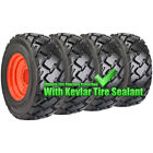 Set Of Carlisle 12x16.5 Ultra Guard Mx Skid Steer Tires And Wheels - Bobcat