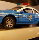 1998 NIB 1 32 NYPD STATE PATROL CAR Die Cast Pull Back POLICE Ford THUNDERBIRD