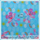 BonEful FABRIC FQ Cotton Quilt Blue Sesame Street Rainbow Baby Pink Abby Cadabby