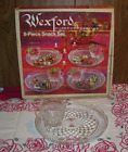 Vintage Anchor Hocking Wexford 8 Pc Snack Set with Original Box