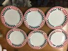 SET OF SIX CUPS SOUP BOWLS DINNER PLATES GIBSON FOR COCA COLA DISHWASHER VTG1996