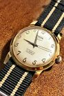 Vintage Enicar Ultrasonic Auto Watch W/ RARE Waffle Textured Dial *SERVICED*