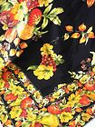 April Cornell Border Print Tablecloth Tableau Fruit Black 60 x 90 - NEW