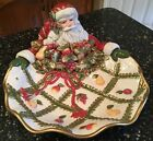 FITZ AND FLOYD RENAISSANCE SANTA LARGE SERVING PLATTER / CENTERPIECE