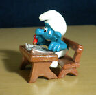 Smurfs Student Super Smurf School Desk Pencil Figure Vintage Toy Figurine 40220
