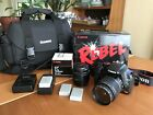 Canon Rebel XSi EOS 450D Digital SLR 18 55 IS Lens 50mm Fixed Lens Camera Bag