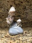 Lladro Girl With Cat And Dog #5032 In Box