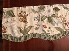 Williamsburg Waverly Garden Images Magnolia Floral Scalloped Lot Of Valances