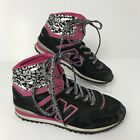 NEW BALANCE 491 Girls Youth High Top Sneakers Shoes Black Silver Pink Size 2Y
