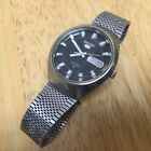 Vintage Seiko 5 Men 21J Self-Winding Automatic Watch Hour~6319-8140~Day Date~Run
