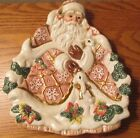 Fitz and Floyd RETIRED Snowy Woods Santa and Bunnies Serving Plate