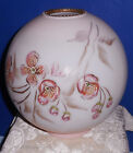 Pink Apple Blossoms GWTW Parlor Banquet Oil Lamp Ball Shade 4 Fitter Hand Ptd