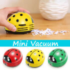 Red Yellow Green ABS Plastic Ladybug Crumby Mini Vacuum Cleaner 30 Hours 10cm
