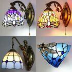 Aroma Tiffany Style Dragonfly Stained Glass Wall Sconce Lamp Bathroom Lighting