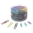 U Brands Paper Clips Medium 1 1 8 Inch and Large 2 Inch Sizes Assorted Colors