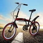 20 Outdoor 6 Speed Folding Bicycle Communting School Unisex Cycling US Stock