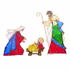 Outdoor Nativity Set Christmas Lighted Yard Decoration Holy Family Garden Patio
