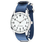 YVES CAMANI UNISSON Unisex Mens Womens Watch Stainless Steel 2 Nylon-Sraps New