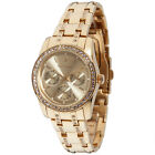 YVES CAMANI MIELLE Womens Watch Stainless Steel Gold Plated Multifunction New