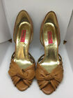 Womens size 45 BOUTIQUE NORDSTROM Tan Leather Strappy Heels Shoes