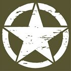 Distressed Army Star Military Jeep 10 Year Premium Vinyl Decalsticker 3-22in