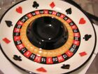 FITZ & FLOYD GAME NIGHT CHIP & DIP SERVER PLATTER POKER BOWL  NIB