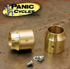 BRASS EXHAUST TIPS FOR 1 3 4 PIPES SHORT CURVE HARLEY TRIUMPH BOBBER CHOPPER