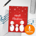 120s Christmas Greeting Card Snowman Christmas With Card Sound Recorder