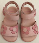 New Pediped Pink Leather Sandals Floral w Flex Toddler shoes Size 7