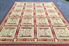Exquisite European Hand Made Intricate Wool Needlepoint Rug 7'8