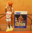 1988  JOHN PAXSON - Starting Lineup - SLU - Loose Figure & Card - CHICAGO BULLS