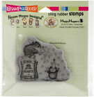 Stampendous House Mouse Cling Stamp Glitter Hearts