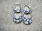 Itzy Bitzy Shoes Mary Jane Navy Floral Multi Color Size 6 Girls Toddler NIB