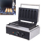 1550W Commercial Nonstick Electric French Hot Dog Waffle Maker Iron Machine
