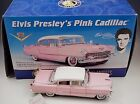 FRANKLIN MINT 1955 ELVIS PRESLEY PINK CADILLAC MODEL 124 SCALE DIE CAST MIB