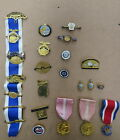 17 DAUGHTERS OF THE AMERICAN REVOLUTION PINS AND 7 RELATED PINS 1128E