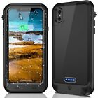 Waterproof Battery Power Charging Backup Rechargeable Case Cover For iPhone X