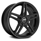 Pacer 788B Tradition Wheels 15x7 Gloss Black with Lip Stripe +40 4x1143