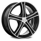RTX Stratus Wheels 14x6 Black with Machined +38 4x100