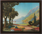 Antique 1920s R. Atkinson Fox Framed Fine Art Print Nature Landscape Perfect Day