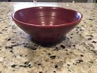 Cinnabar Maroon Pottery Bowl Handmade Matches Fiesta Ware Homer Laughlin