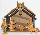 Vintage Fontanini By Roman Nativity Stable Depose Italy Spider Mark 1983 8pc Set