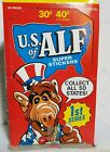 1987 U.S OF ALF 1ST SERIES UNOPENED BOX OF 48!! STICKER PACKS !! BY ZOOT